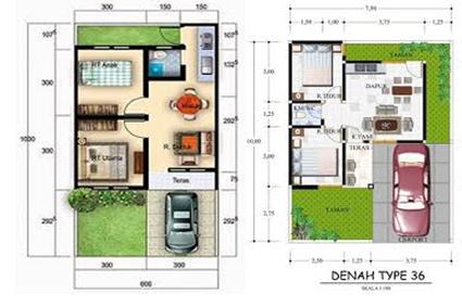 layout renovasi rumah 2 lantai